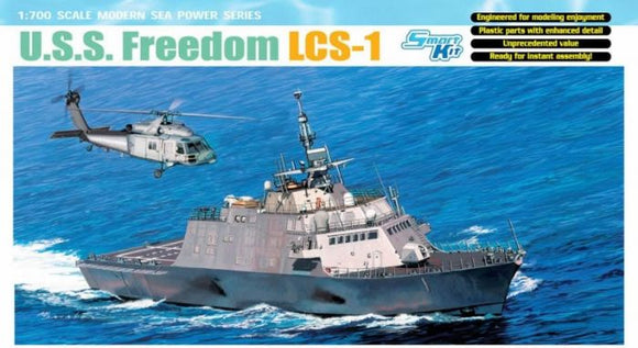 USS Freedom LCS-1 Littoral Combat Ship 1/700 Scale Plastic Model Kit Dragon 7095