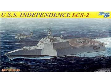 USS Independabce LCS-2 Littoral Combat Ship 1/700 Scale Plastic Model Kit Dragon 7092