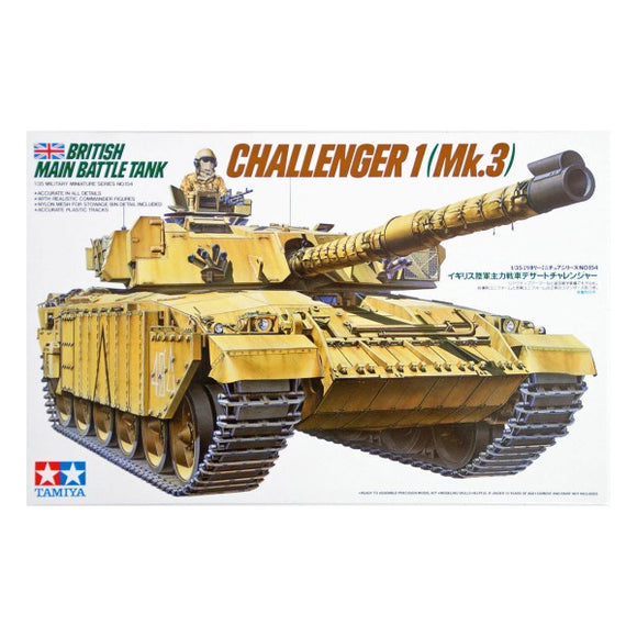 Challenger 1 MK3 MBT  Armoured Vehicle 1/35 Scale Plastic Model Kit Tamiya 35154