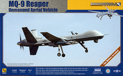 General Atomics MQ-9 Reaper UAV 1/72 Scale Plastic Model Kit Skunkmodelworks 72003