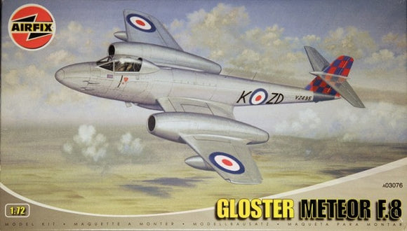 Gloster Meteor F8 1/72 Scale Plastic Model Kit Airfix A030766