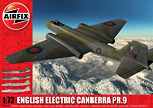 English Electric Canberra PR 9 1/72 Scale Plastic Model Kit