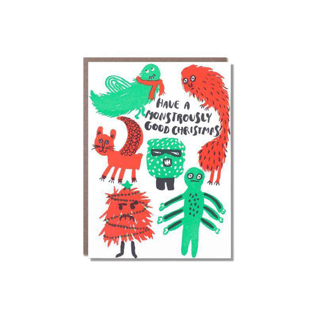 Monster Christmas Greeting Card