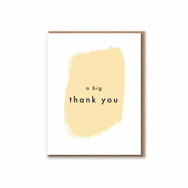A Big Thank You - Letterpress Card