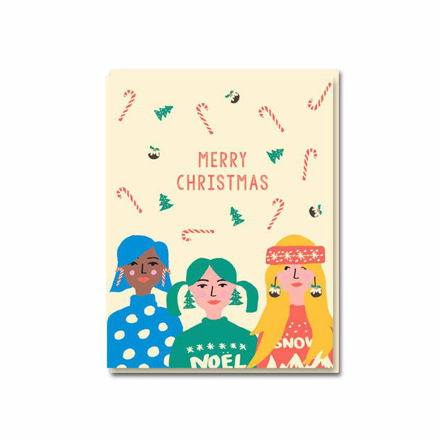 Christmas Girls Greeting Card