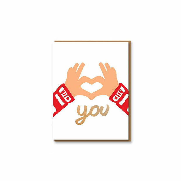 Love You Hands Greeting Card