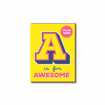 A is for Awesome Greeting Card