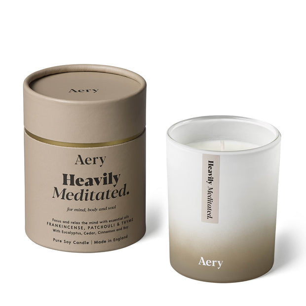 Heavily Meditated Candle - Frankincense Patchouli & Thyme