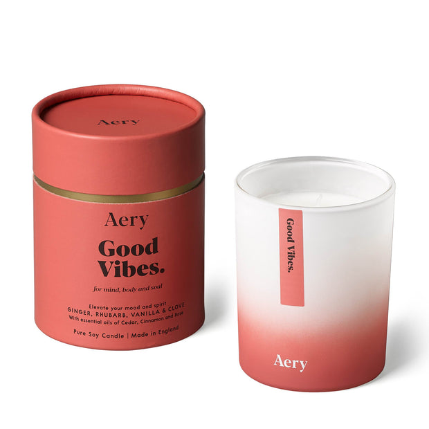 Good Vibes Candle - Ginger Rhubarb & Vanilla