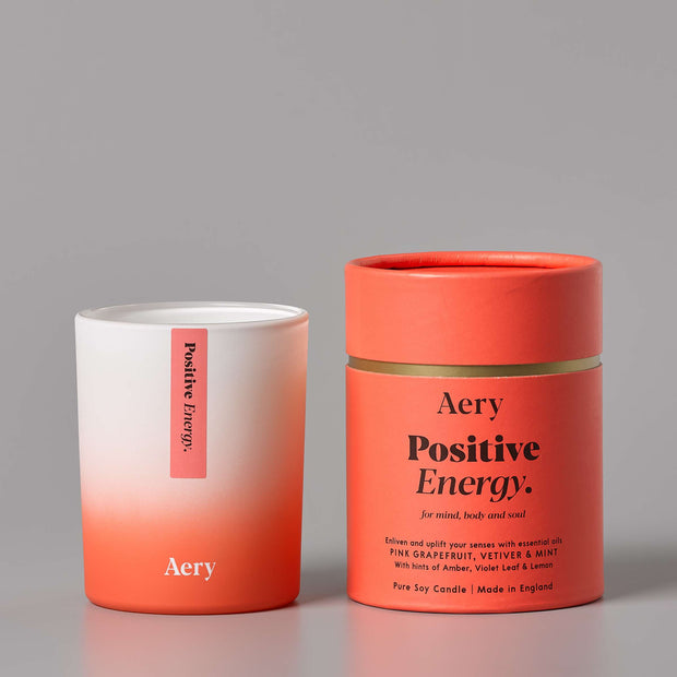 Positive Energy Candle - Pink Grapefruit, Vetiver & Mint