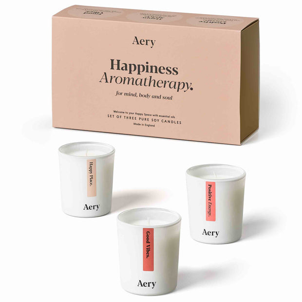 Happiness Aromatherapy Gift Set - Three Votive Candles
