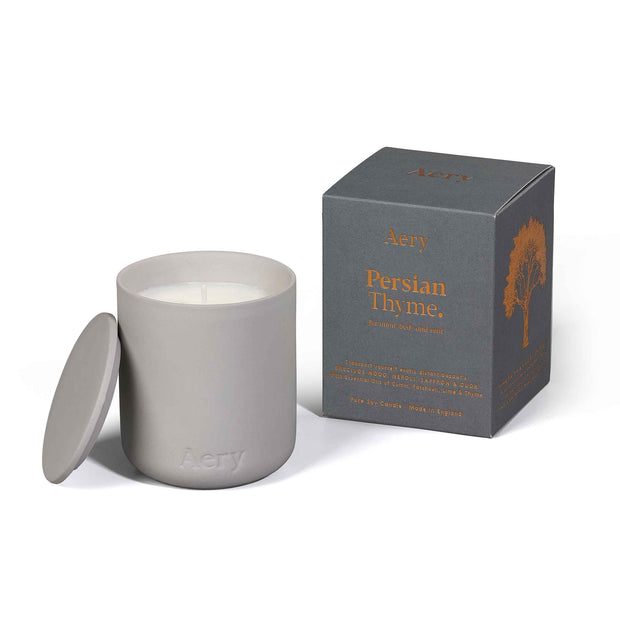 Persian Thyme Candle - Grey Clay Pot