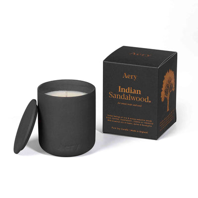Indian Sandalwood Candle - Black Clay Pot