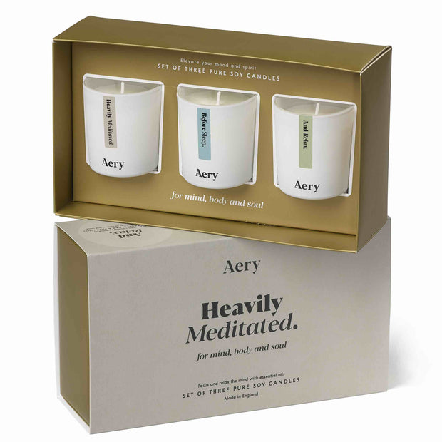 Heavily Meditated Gift Set - Three Votive Candles
