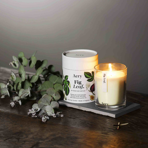 Fig Leaf Candle - Black Fig, Vetiver & Cedarwood