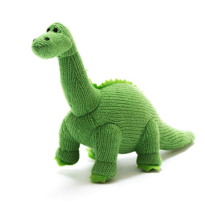 Green Diplodocus Knitted Dinosaur Soft Toy