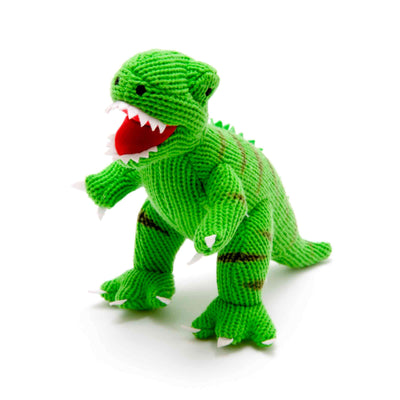 Green T Rex Knitted Dinosaur Soft Toy