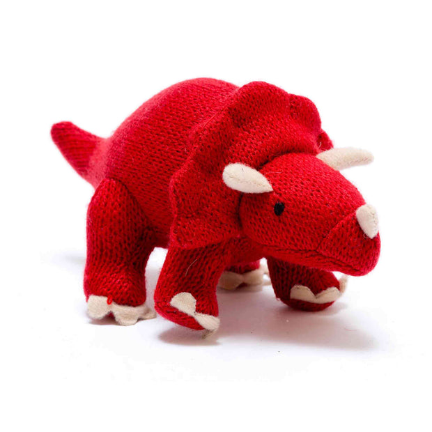 Triceratops Knitted Dinosaur Soft Toy