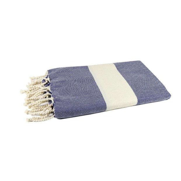 Navy Blue Luxury Fouta Towel  - Recycled Cotton