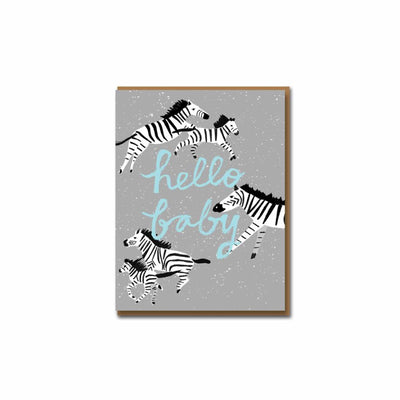Hello Baby Zebra Moments Card