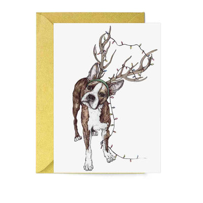 Santa's Helper Dog Greeting Card