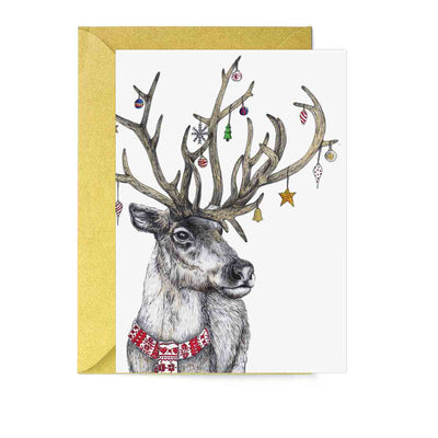 Santa's Helper Reindeer Greeting Card