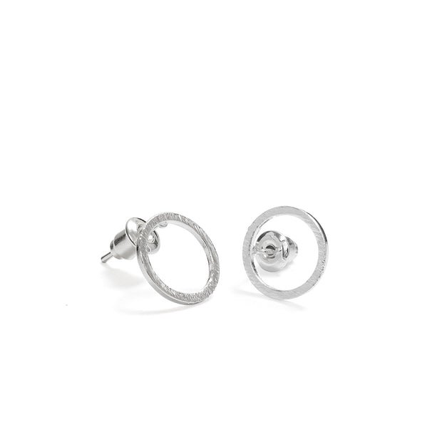 Circle Stud Earrings available in Gold & Silver