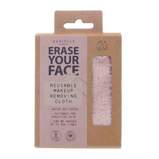 Erase Your Face Eco Makeup Removing Cloth - Pastel Pink