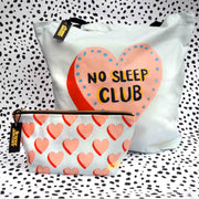 No Sleep Club Zip Wash Bag