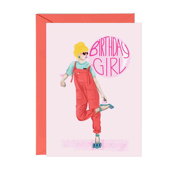 Bubblegum Birthday Girl Greeting Card