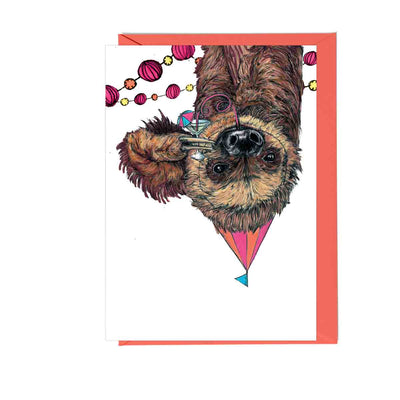 Party Sloth Greetings Card