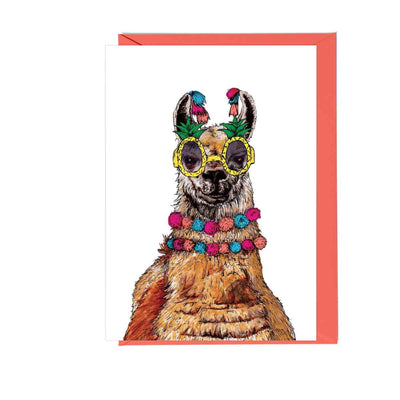 Party Llama Greetings Card