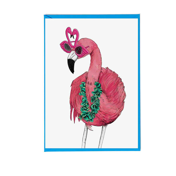 Party Flamingo Greetings Card