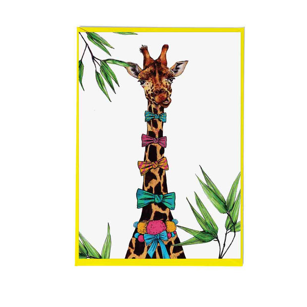 Party Giraffe Greetings Card