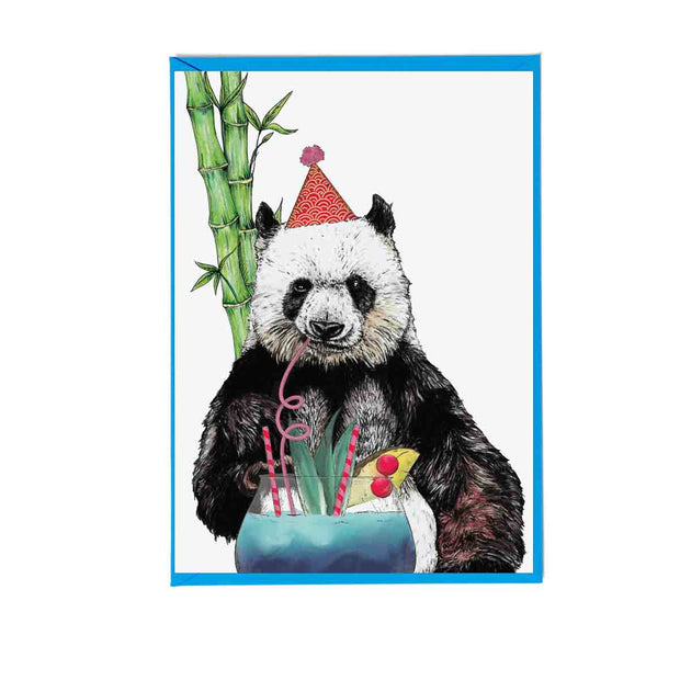 Party Panda Greetings Card