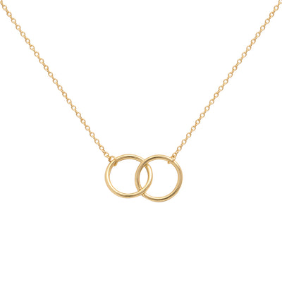 Hera Interlock Necklace in Gold
