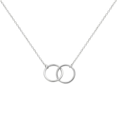 Hera Interlock Necklace in Silver