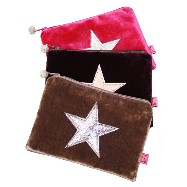 Metallic Star Purse in Mink