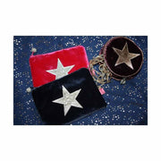 Metallic Star Purse in Fig