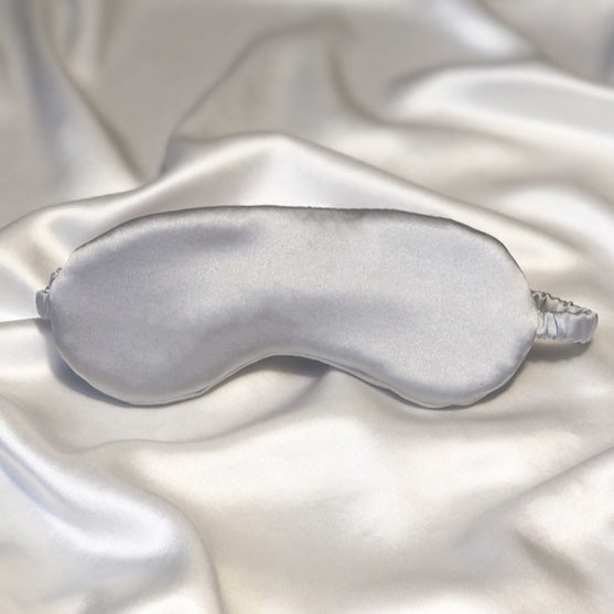 Silk Eye Mask in Light Grey