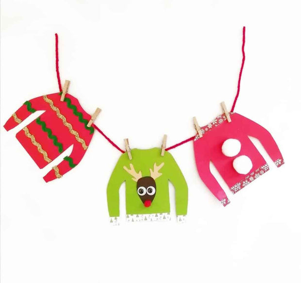 Christmas Jumper Garland Children's Craft Kit