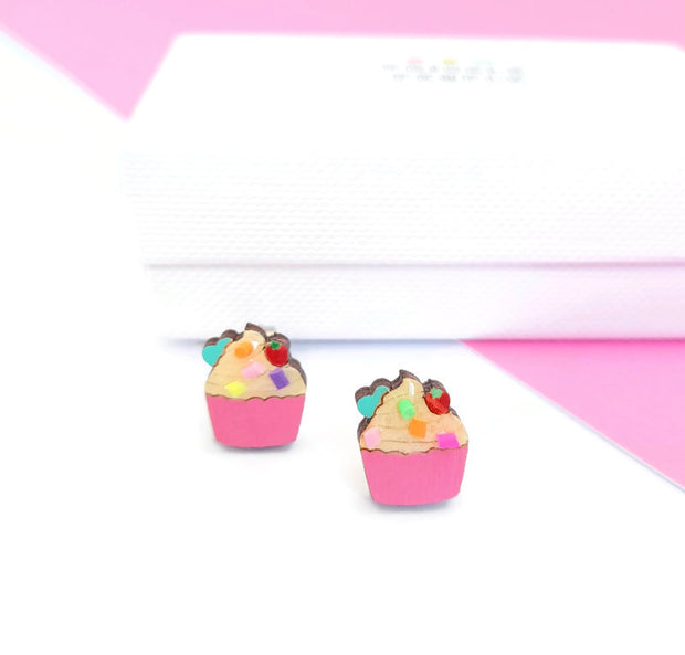 Cup Cake Stud Earrings