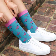 Women's Flamingo Bamboo Socks