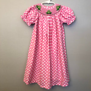 Vive La Fete Pink Smocked Dress Size 3