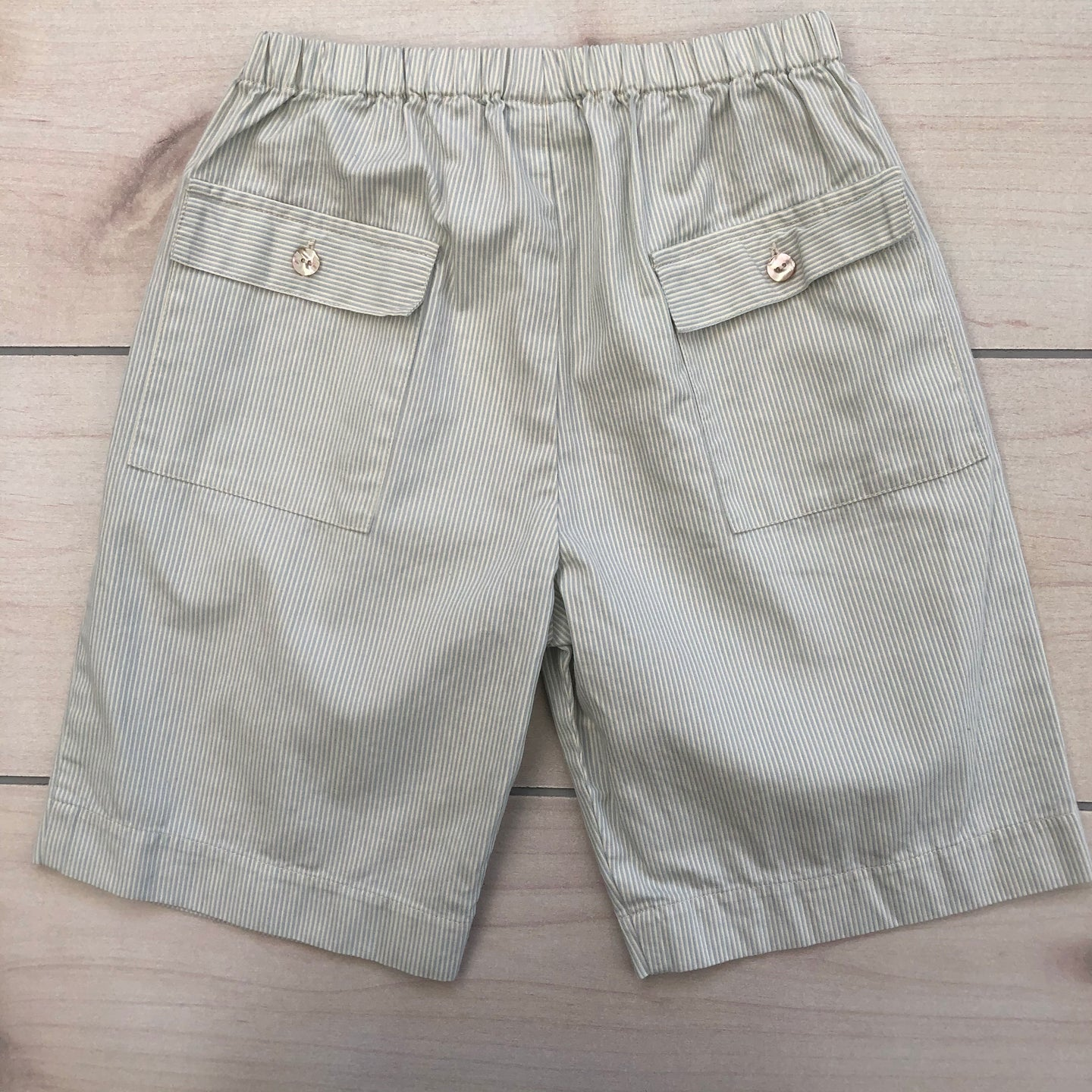 Papo D'anjo Green Striped Shorts Size 10