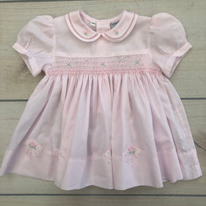 Friedknit Creations Pink Smocked Dress Size 3 months