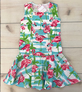 Little B's Pink Flamingo Dress Size 4-5 NWT