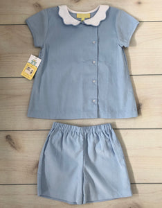 Pixie Lily pinpoint corduroy Shorts Set 4T NWT