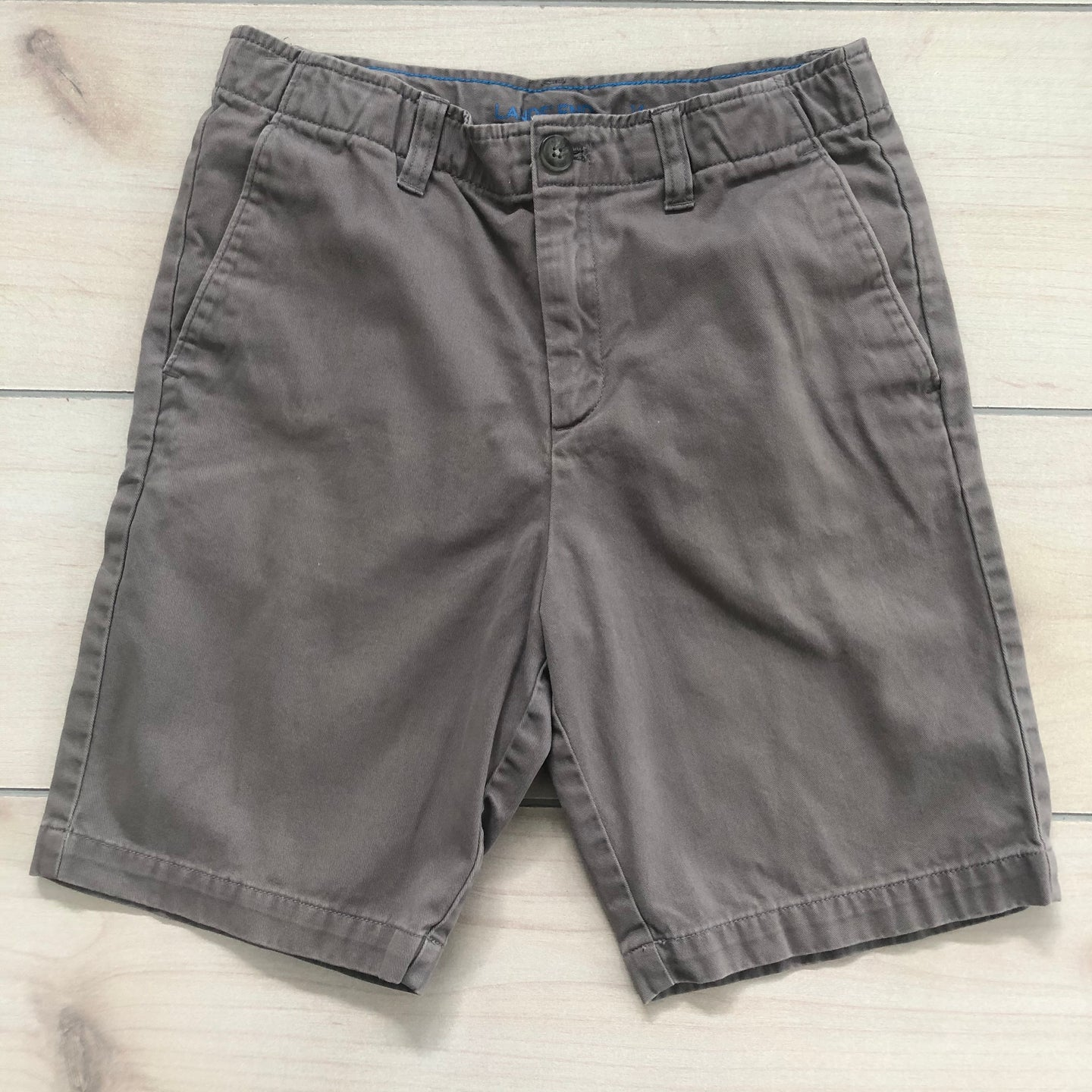 Lands End Gray Shorts Size 14