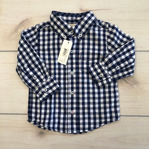 Peek LS Button Down Large Size 12-18 months NWT